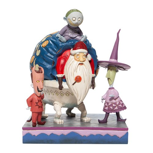 Disney Traditions Nightmare Before Christmas Lock, Shock, and Barrel with Santa Bagged and Delivered Statue by Jim Shore