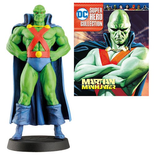 DC Superhero Best Of  Martian Manhunter Figure with Collector Magazine #30, Not Mint