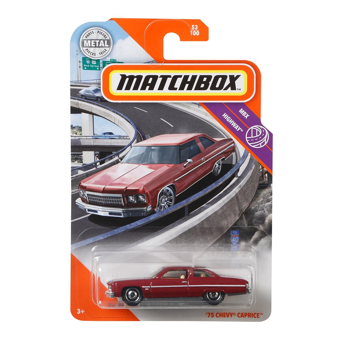 MATCHBOX 75 CHEVY CAPRICE MBX HIGHWAY 53//100 1:64 2019 Mattel