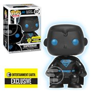 Justice League Superman Silhouette Glow in the Dark Pop! Vinyl Figure - Entertainment Earth Exclusive