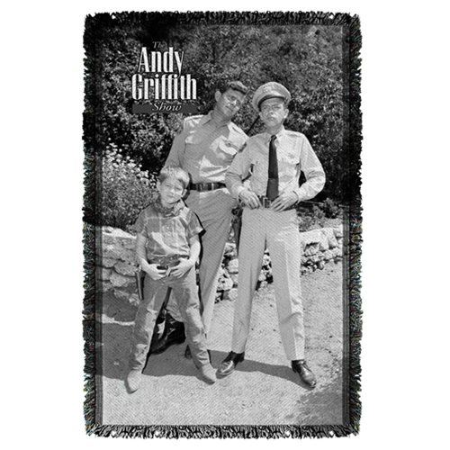 The Andy Griffith Show Lawmen Woven Tapestry Throw Blanket