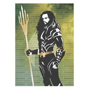Justice League Aquaman Words MightyPrint Wall Art