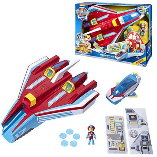PAW Patrol Super PAWs 2-in-1 Transforming Mighty Pups Jet Command Center