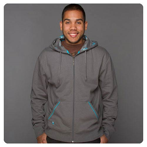 Minecraft Diamond Premium Gray Zip-Up Hoodie