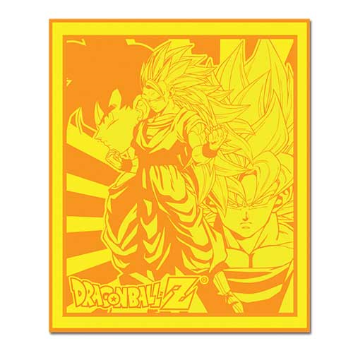 Dragon Ball Z Goku Gold Throw Blanket