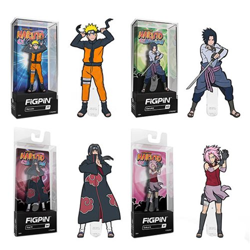 Naruto Asssorted FiGPiN Enamel Pins 6-Pack Case