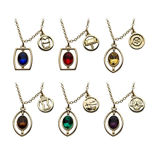 Avengers 6-Piece Infinity Stone Necklace Set
