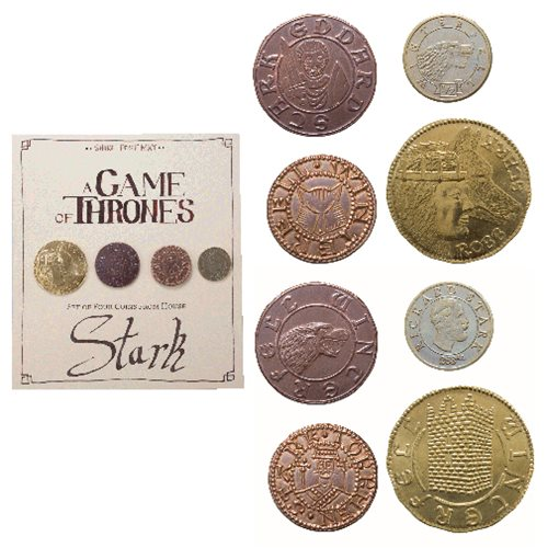 Game of Thrones House Stark 4-Pack Coin Set