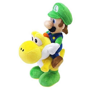 Super Mario Series 3 Luigi Riding on Yoshi Plush