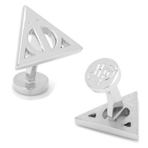 Harry Potter Deathly Hallows Silver Cufflinks