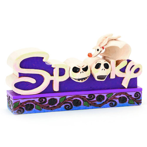 Disney Traditions Nightmare Before Christmas Spooky Word Plaque Statue