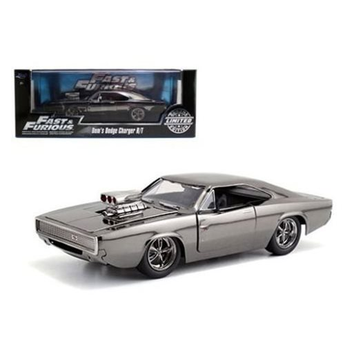 Fast and Furious 7 Dom's 1970 Dodge Charger Chrome Edition Die-Cast Metal Vehicle