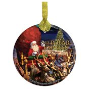 The Polar Express Santa StarFire Prints Hanging Glass Print