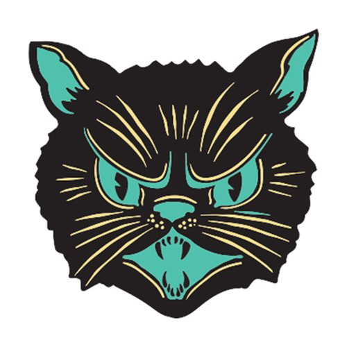 Beistle Scratch Cat Enamel Pin