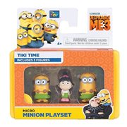 Despicable Me 3 Micro Minion Tiki Time 3-Pack, Not Mint