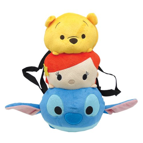 Tsum Tsum Pooh Ariel Stitch Plush Backpack