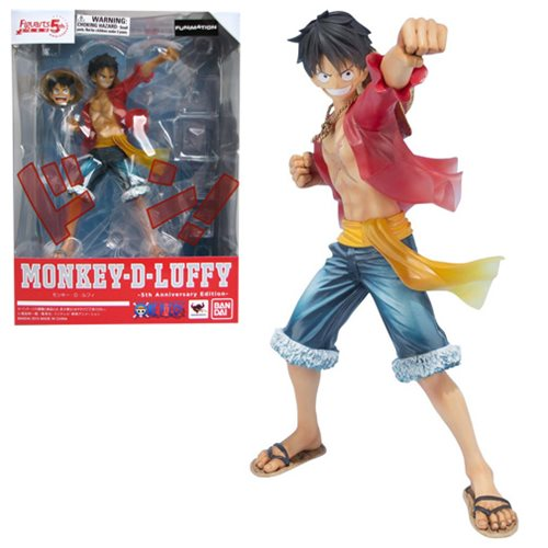 One Piece Monkey D. Luffy 5th Anniversary Edition Figuarts ZERO Action Figure