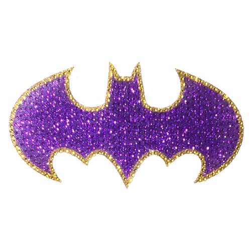Batman Batgirl Logo Crystal Studded Large Decal