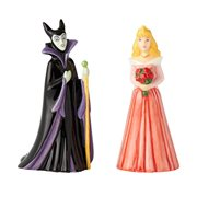Sleeping Beauty Aurora and Maleficent Salt and Pepper Shaker Set