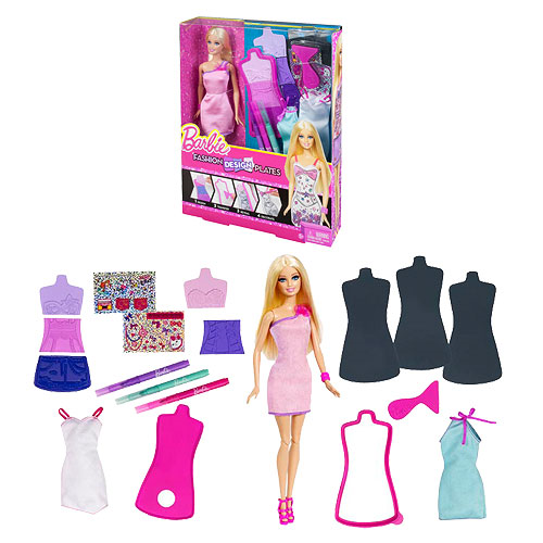 Barbie Fashion Design Plates Doll Entertainment Earth