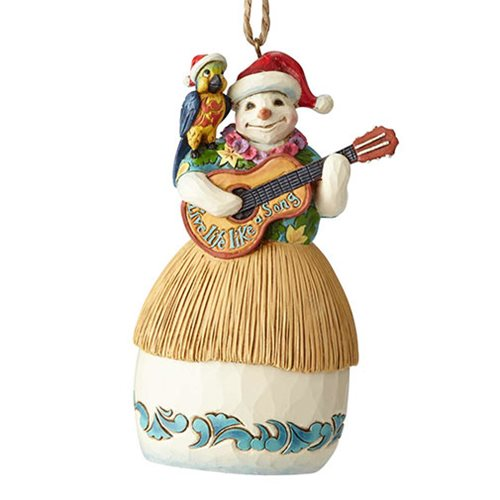 Margaritaville Snowman with Guitar Heartwood Creek Ornament by Jim Shore