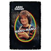 Mork and Mindy Mork Woven Tapestry Throw Blanket