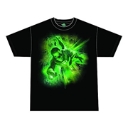 Green Lantern Movie Emerald Energy Black T-Shirt