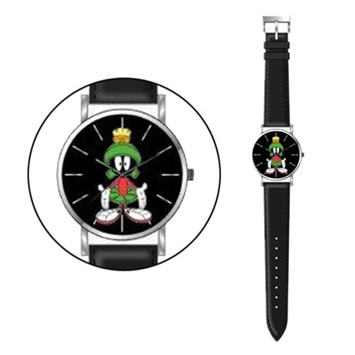 Looney Tunes Marvin the Martian Black Strap Watch