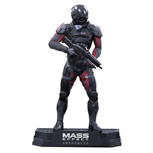 Mass Effect Andromeda Scott Ryder 7-Inch Color Tops Green Wave #21 Action Figure