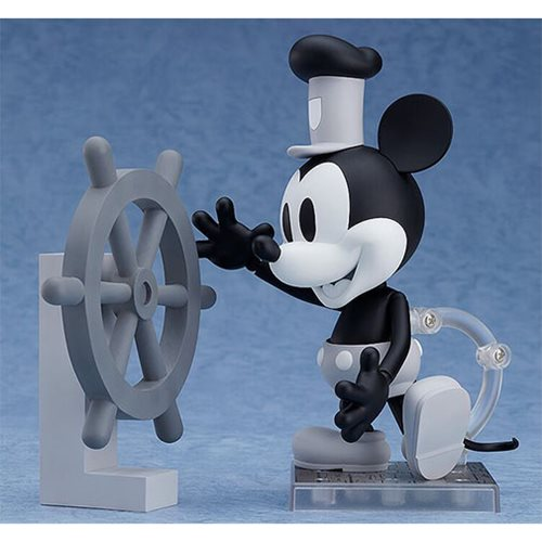 Mickey Mouse Steamboat Willie Black-and-White Nendoroid Action Figure