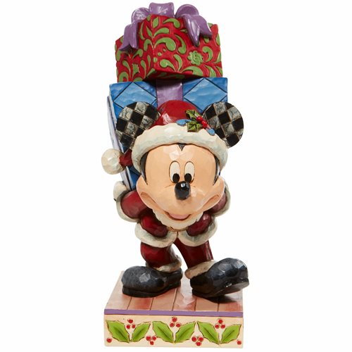 Disney Traditions Mickey with Presents Here Comes Old St. Mick by Jim Shore Statue