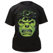 The Incredible Hulk Angry Face Black T-Shirt