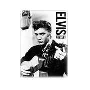 Elvis Presley Black and White Tin Sign