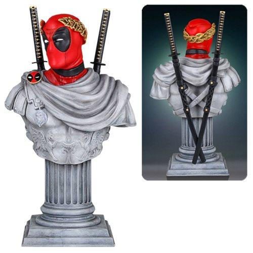 Картинки по запросу Marvel Mini Busts - Deadpool Caesar Classic Bust