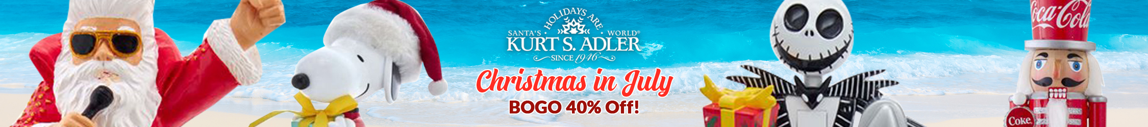 Christmas in July! BOGO 40% Off Kurt S Adler