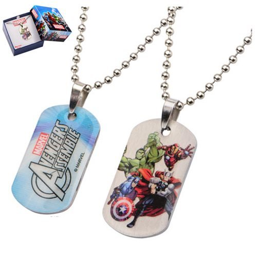 Avengers Stainless Steel Dog Tag Pendant Necklace