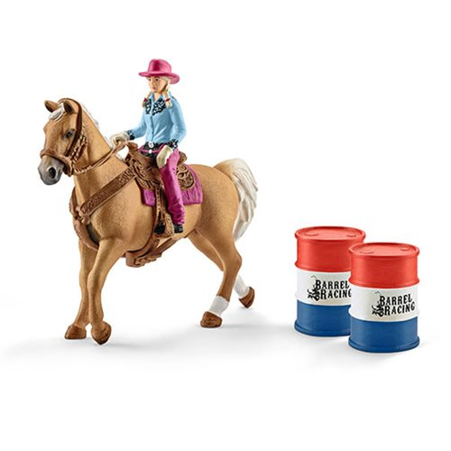 Farm World Barrel Racing Horse with Cowgirl Playset