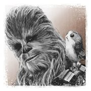 Star Wars: The Last Jedi Chewbacca and Porg Canvas Print