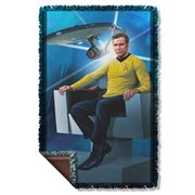 Star Trek Captain's Chair Woven Tapestry Throw Blanket