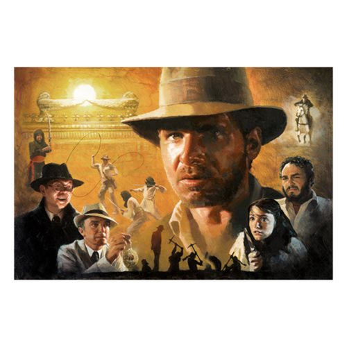 Indiana Jones Ark of the Covenant by Christopher Clark Canvas Giclee Art Print