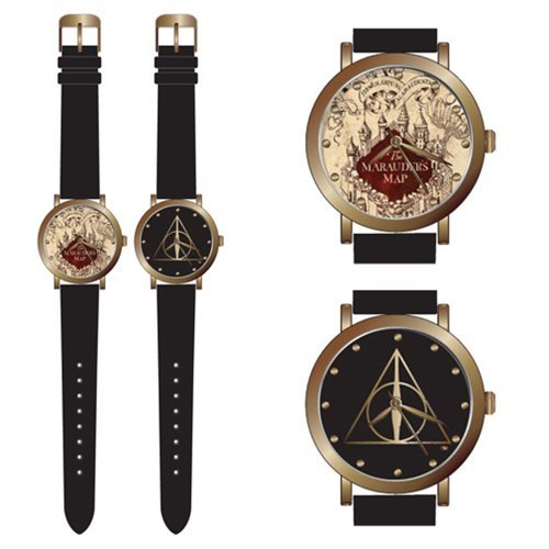 Harry Potter Marauder Map and Deathly Hallow Watch 2-Pack Set