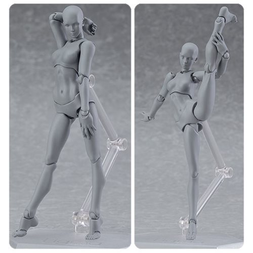 Female Gray Color Figma Archetype Next Action Figure
