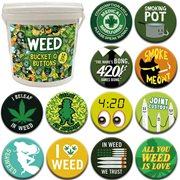 Weed 144-Piece Bucket o' Buttons