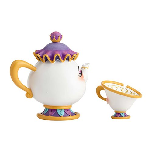 Disney The World of Miss Mindy Beauty and the Beast Mrs. Potts and Chip Statue