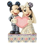Disney Traditions Wedding Two Souls, One Heart Mickey and Minnie Mouse Statue