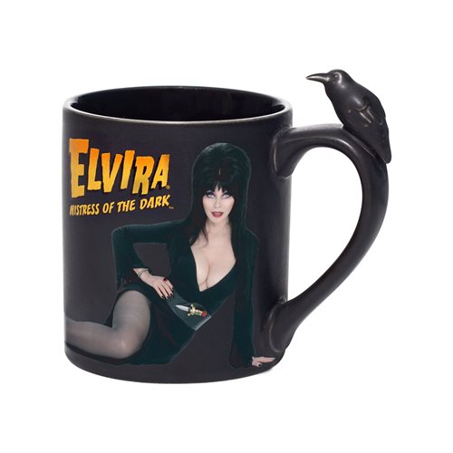 Elvira Mistress of the Dark Elvira Sculpted Mug