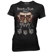 Attack on Titan Titan in the Shadows Black Juniors T-Shirt