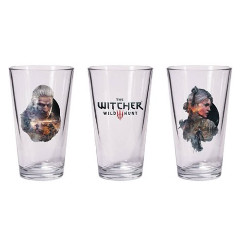 The Witcher 3 Geralt and Ciri Pint Glass Set