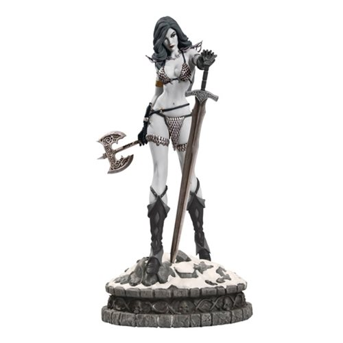 Women of Dynamite Red Sonja Black and White Diamond Eye Edition Statue