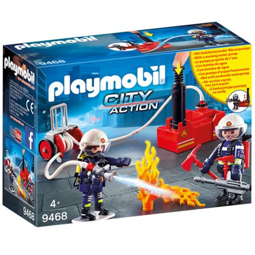 Playmobil 9468 Firefighters with Water Pump